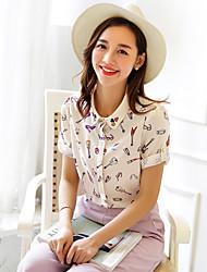 Wake Up® Women's Shirt Collar 1/2 Length Sleeve Shirt & Blouse Pink-CS16100