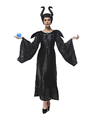 Cosplay Costumes Queen Fairytale Movie Cosplay Black Solid Dress Hat Halloween Christmas New Year Female Terylene