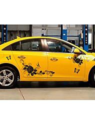 d-72 voitures tirer papillons papillon autocollant rose autocollant autocollants véhicule corps de la personnalité décoration