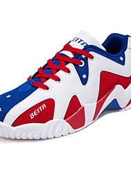 Men's Shoes Tulle Casual Sneakers / Clogs & Mules Casual Indoor Court Flat Heel Others / Lace-up Blue / Red / Black and