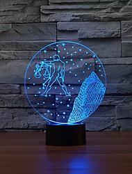 libra Muster 3D LED-Nachttischlampe Schreibtisch Farbwechsel-Nachtlicht