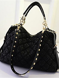 Women PVC Formal Tote Black