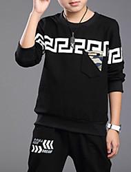 Boy's Casual/Daily Color Block Clothing Set,Rayon Spring / Fall Black / Gray