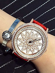 Women's Luxury Sparkle Leather Band Quartz Watch