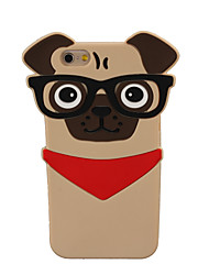 Glasses Dog Case 3D SharPei Silicone Case for iPhone 6/6s