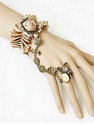 Armbänder Ring-Armbänder Spitze Herzform Modisch Schmuck Geschenk Weiß,1 Stück