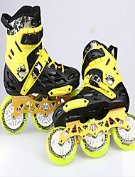 Unisex Athletic Shoes Roller Skate Shoes Customized Materials Hook & Loop Black Blue Yellow Skate Shoes