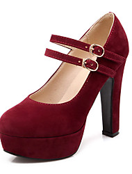 Women's Shoes  Heel Heels / Platform Heels Office & Career / Dress / Casual Black / Blue / Red / Beige