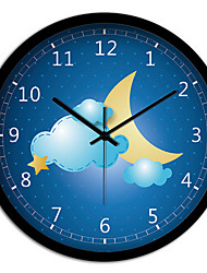 Creative Personality Beautiful Night Bedroom Living Room Metal Mute Quartz Wall Clock