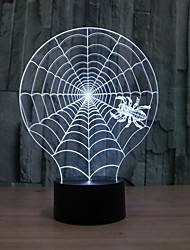 3D Illusion Spider Web Shape LED Table Lamp as Gift Color-Changing Night Light