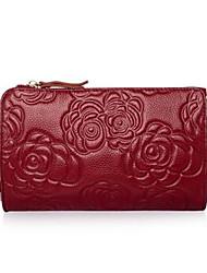 Women PU Formal Shoulder Bag Red / Black