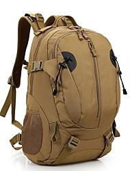 30 L Rucksack Camping & Wandern Draußen Wasserdicht Braun Nylon