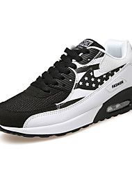 Men's Sneakers Spring Fall Comfort Fabric Outdoor Athletic Flat Heel Lace-up Blue Gray Black and White