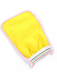 2 in 1 Shower Scrubber Back Scrub Exfoliating Body Massage Sponge Bath Gloves (Random Color)