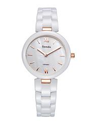 Semdu® Fashion Ceramic Handiness Japan Movement Women Lady Wrist Watch Waterproof  Novetly Watch