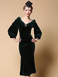 To My Fair Lady® Women's V Neck Long Sleeve Midi Dress-1501003