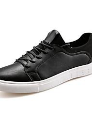 Herren-Flache Schuhe-Sportlich-PU-Flacher Absatz-Komfort-Schwarz Blau Weiß