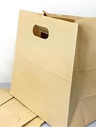 poinçonnage carrés de fond sac en papier sacs à lunch box collation à emporter d'emballage sacs sac en papier kraft