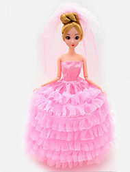 Universal (Excluding Baby) 8 Clothes Wedding Dress Full Bag Big Skirt Trailing Wedding Dress Design 30 Cm Doll Skirt