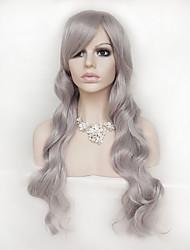 gris perruque cosplay 28 pouces perruques de cheveux de nylon cheveux longs