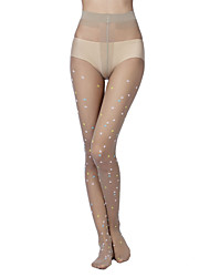 Women's Color trend of core-spun silk Jacquard pantyhose