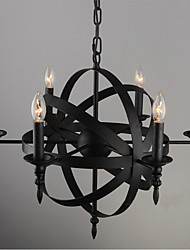 8 Chandelier ,  Modern/Contemporary Painting Feature for Designers Metal Living Room / Study Room/Office