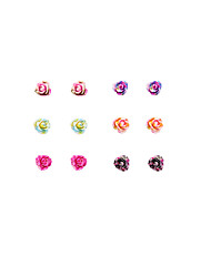 Earring Flower Stud Earrings Jewelry Women Fashion / Vintage / Punk Style / Adorable Party / Daily / Casual / Sports Resin 1setSilver /