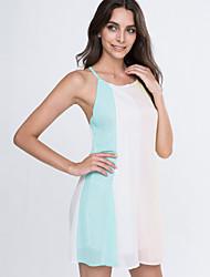 Women's Summer Sleeveless Beach Dress Backless Sexy Chffion Mini Dresses
