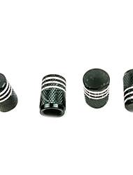 4 peças de alumínio de cor suprimentos automotivos válvula do pneu de proteção contra poeira tampa protectora