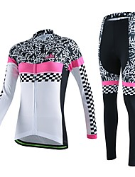 Sports® Cycling Jersey with Tights Women's / Unisex Long SleeveBreathable / Quick Dry / Wearable / Compression / 3D Pad / Back Pocket /