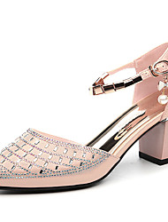 Women's Shoes Glitter Spring/Summer/Fall/Winter Heels Party & Evening/Casual Chunky Heel Sparkling Glitter Black/Gold
