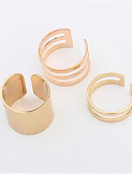Ringe Damen / Herren / Paar Ohne Stein Legierung Legierung Verstellbar / 6 Gold / SilberFarbe & Stil Darstellung variiert je nach