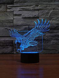 Night Light For Children Power Bank Table LampEagle Cartoon Colorful 3D Touch Switch LED Light Usb Led 3d Lamp