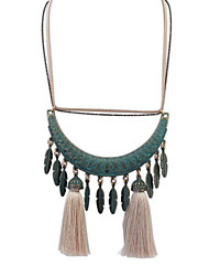 Fashion Crescent Tassel Necklace Casual Jewelry