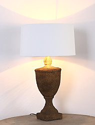 Traditional Classic Single Head Resin Table Lamp Fit for the Indoor / Hotel / Coffee Room and Bar Decorate Dest Light