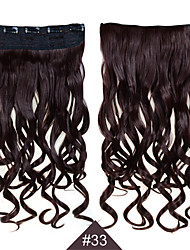 Clip In Synthetic 1PC 24inch 60cm Hair Women Big Wave Long Curly Hair Extensions #33 Color Synthetic Hair Weaves
