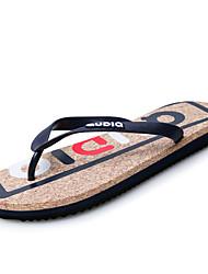 Herren-Slippers & Flip-Flops-Outddor / Lässig / Sportlich-Tüll / PU-Flacher Absatz-Flip - Flops / Pantoffeln-Schwarz / Blau