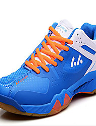 Unisex Sneakers PU Athletic Low Heel Lace-up Blue Red White Badminton Basketball