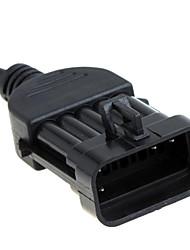 10-pin cable de 10 pines de diagnóstico Opel extensión de los accesorios del cable OBD2 16pin