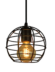 Retro Contracted Metal Pendant Lights, Creative Black Painting Living Room Dining Room Garage light Fixture