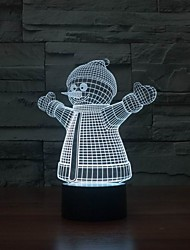 USB Power 3d Model Lamp with Snowman Shape for Room Decoration Color-Changing Night Light