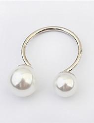 Ringe Damen / Herren / Paar Künstliche Perle Legierung Legierung Verstellbar / 6 SilberFarbe & Stil Darstellung variiert je nach Monitor.