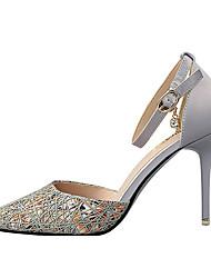 Women's Heels Summer Heels Fabric Casual Stiletto Heel Others Black / Gray / Fuchsia Others