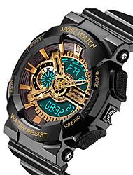 Мужской Спортивные часы Японский кварц LCD / Календарь / Защита от влаги / С двумя часовыми поясами / тревога / Светящийся / Хронометр