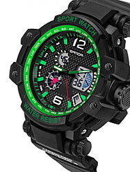 Мужской Спортивные часы Кварцевый Японский кварц LCD Календарь Защита от влаги С двумя часовыми поясами тревога Светящийся Хронометр