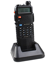 BAOFENG UV-5R-5W+3800L-black Walkie Talkie 4W / 1W (Max 5W) 128 136-174MHz / 400-520MHz 3800mAh 3 km -5kmFM Radio / Notruf / PC-Software