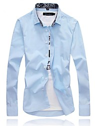Men's Long Sleeve Shirt,Cotton Work Solid