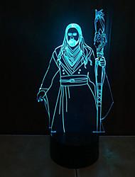 1pc Touch 3 d führte bunte Vision Lampe Geschenk Atmosphäre Schreibtischlampe Änderung der hellen Farbe Nacht