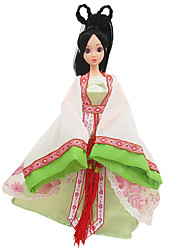 Costume Doll Clothes Dress Girl Green Ancient Chinese Clothing (Without Baby)