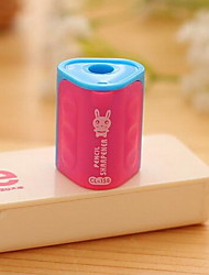 Students Happy Rabbit Triangular Cylinder Pencil Sharpener (Random Colors)